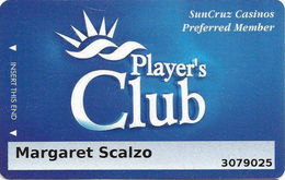 SunCruz - Casino Cruise Ship From Florida - Slot Card - 2 Phone#s On Back - Casino Cards