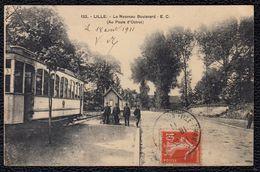 59 LILLE - LE NOUVEAU BOULEVARD ( AU POSTE D OCTROI ) TRAMWAY CONDUCTEUR - Lille