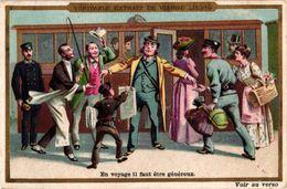 6 Cards Complete Set Number 306 Compagnie Liebig Compagnie C891 RARE, Litho Plaisirs De Voyage, Aventura In Ferrovia - Liebig