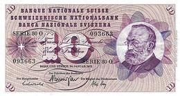 * SWITZERLAND 100 FRANCS 1969 P-49k UNC SIGN. GALLI & STOPPER & AEBERSOLD [CH334k1] - Switzerland
