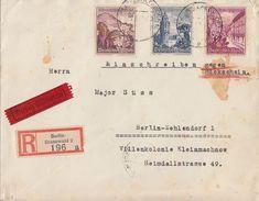 DR Orts-Eilbote-R-Brief Mit Rückschein Mif Minr.681,682,683 Berlin - Briefe U. Dokumente