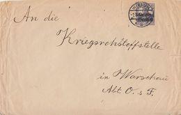 Dt. Post In Polen Brief EF Minr.12 Wielun - Besetzungen 1914-18