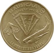 62 BOULOGNE NAUSICAÀ N°1 LA MER EST SUR TERRE REQUIN MÉDAILLE MONNAIE DE PARIS 1998 JETON TOURISTIQUE TOKENS MEDALS COIN - Non-datés