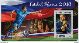 SAO TOME E PRINCIPE 2016 SHEET RUSSIA 2018 WORLD CUP FOOTBALL SOCCER FUTBOL SPORTS DEPORTES St16418b - Sao Tome Et Principe