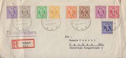 AM-Post R-Brief Mif Minr.1-9 SST Dachau 29.4.45-46 Tag Der Befreiung - Bizone