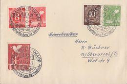 Gemeina. Brief Mif Minr.917,918,945,946,961 SST Frankfurt 2.3.48 - Gemeinschaftsausgaben