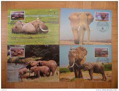 WWF Mocambique Mozambique Savannah Elephant Elefant Oliphanten 2002 4 CM MC MK Maxi Maximum Carte Card Maxicards - Maximum Cards
