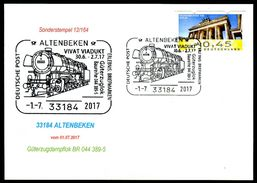 81646) BRD - Karte - SoST 33184 ALTENBEKEN Vom 01.07.2017 - Güterzugdampflok BR 044 389-5 - [7] West-Duitsland