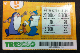 1  BILLET TICKET DE TRIBOLO DE LA LOTERIE SUISSE DE 2012 BD LÉONARD TURK DE GROOT EN BON ÉTAT ILLUSTRATEURS - Billetes De Lotería