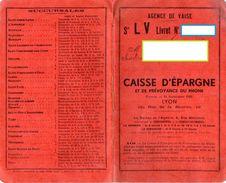LIVRET CAISSE D´EPARGNE  Et De Prévoyance Du Rhone  LYON  Agence De Vaise  SEPTEMBRE 1935 - Chèques & Chèques De Voyage