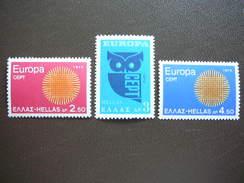 EUROPA (C.E.P.T.) 1970 - Flaming Sun And Owl. Greece Griechenland 1970 MNH ** # Mi. 1040/2 - Greece