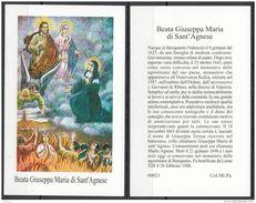 Sante : Beata Giuseppa Maria Di Santa  Agnese - Santini