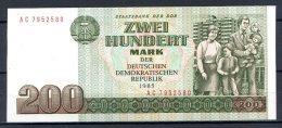 461-Allemagne De L'Est Billet De 200 Mark 1985 AC795 Neuf - [ 6] 1949-1990: DDR - Duitse Dem. Rep.