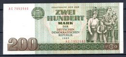 461-Allemagne De L'Est Billet De 200 Mark 1985 AC795 Neuf - [ 6] 1949-1990 : RDA - Rep. Dem. Tedesca