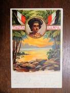 "C.P.A. TALOFA SAMOA :Ausstellung Samoa"".. Unsere Neuen Landsleute, Stamp 1908 - Samoa"