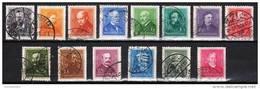 HUNGARY 1932. PORTRAITS SET USED Michel: 489-500 - Usati