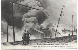 SAINT OUEN - Incendie Des Magasins Du Nord - Prise Des Vues Du Sinistre Par Le Cinématographe - Explosion De Bonbonnes - Saint Ouen