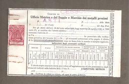 MARCA DA BOLLO PESI MISURE Lire 1000 Su Documento COMUNE CESSOLE ASTI 1961 - 6. 1946-.. Repubblica