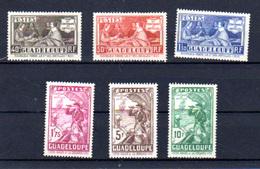 1939    Richelieu, Tricentenaire De La Cie Des Antilles, 127 / 132**, Cote 105 € - Guadeloupe (1884-1947)