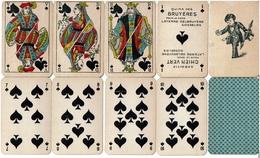 C1890, 32+1- Apéritif Chien Vert / Quina Des Bruyères - Laterre-Delbruyère Gosselies  Cartes Françaises Opaques 4 Scans - 32 Cards