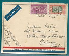 POSTE AÉRIENNE - L'AÉROPOSTALE - Lettre DAKAR (Sénégal) Pour BESANÇON (Doubs) -1935 - Senegal (1887-1944)