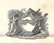 Bouches Du Rhone - Faire Part De Deuil D'AIX Pour De Romance à LAON (Aisne). GUILHEM CLERMONT LODEVE. SENEGUIER - Marcophilie (Lettres)