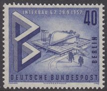 "!a! BERLIN 1957 Mi. 162 MNH SINGLE - International Construction Exhibition ""Interbau"" - [5] Berlin"