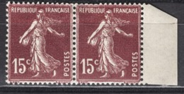 FRANCE 1924/1926 - PAIRE Y.T. N° 189   - NEUFS* - K320 - France