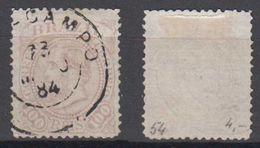 Brazil Brasil Mi# 54 Used 100R 1883 ABRE CAMPO Minas Postmark - Brasilien