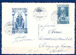 1938 , LUXEMBURGO , TARJETA POSTAL CIRCULADA ENTRE REMICH Y BERGEN EN HOLANDA. - Luxembourg