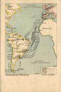 AFRICA AMERICA BRASIL OCEANO ATLANTICO AUSTRAL CONDUCCIONES SUD TRANSATLANTICAS ATOCHA MADRID CENTRO ENSEÑANZA - Postcards