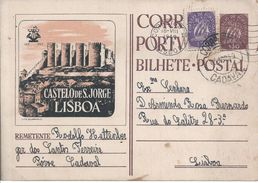 Castle S.Jorge,Lisbon.Postal Stationery With Additional Circulated 1949.St.-Georgs-Burg,Lissabon.Ganzsachen Mit Zusatz.R - Châteaux