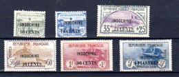 1919  Timbres De France (orphelins) Surchargés INDOCHINE, 90 / 95*, Cote 341,-€ - Ungebraucht