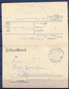 1916 , ALEMANIA , CORREO DE CAMPAÑA , CIRCULADA A HANNOVER , 6. INFANTERIE DIV.  / BATTERIE 260 - Cartas
