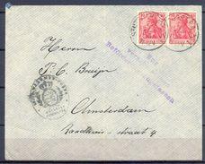 1915 , ALEMANIA , CARTA CIRCULADA ENTRE STUTTGART Y AMSTERDAM , CENSURAS , LLEGADA , INTERESANTE PIEZA. - Cartas