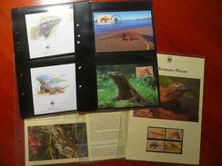 WWF Indonesie Indonesia Komodo Dragon Varanus Vaaran 2000 Complete Chapter Kapitel 4v MNH 4-4 FDC CM Carte Maximum - Collections, Lots & Series