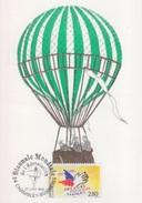 """Biénnale Mondiale Aérostation, Chambley 28 Juillet 95, Cachet Du Bureau Temporaire Sur CP Ballon """"Le Vauban"""" - Francia"""