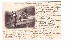 88 Bussang Descente Du Drumont Cpa Animée Cachet Bussang 1903 - Bussang