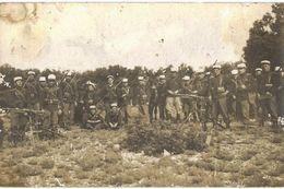 CPA N°5254 - CARTE PHOTO + MITRAILLEUSES - Regimenten