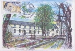 """Aérostation, Courcelles En Fête, Courcelles Chaussy 29 Juin 2002, Cachet Du Bureau Temporaire Sur CP """"Aquarelle C. Roux"""" - Frankreich"""