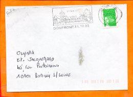 ORNE, Domfront, Flamme SCOTEM N° 18151, église XIe, Donjon Remparts, SECAP HPS - Poststempel (Briefe)