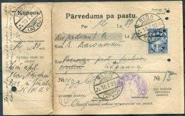 1927 Latvia Riga Pokrava Parvedums Pa Pastu - Latvia