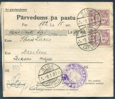 1927 Latvia Parvedums Pa Pastu Riga - Ozerbene - Latvia