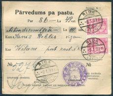 1927 Latvia Parvedums Pa Pastu Riga - Vilani - Latvia