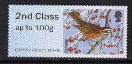GB 2015 QE2 2nd Class Up To 100 Gm Post & Go Redwing Bird No Gum ( B717 ) - Great Britain