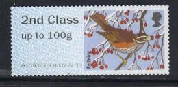 GB 2015 QE2 2nd Class Up To 100 Gm Post & Go Redwing Bird No Gum ( B337 ) - Great Britain