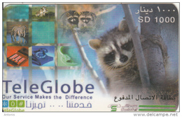 SUDAN - Animals, TeleGlobe Prepaid Card SD 1000, Used - Sudan