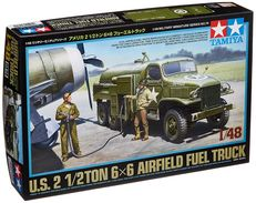 US 2 1/2 Ton 6x6 Airfield Fuel Truck 1/48 ( Tamiya ) - Military Vehicles