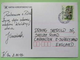 Poland 1998 Postcard To England - Country Estates Oblegorku - 1944-.... Republic