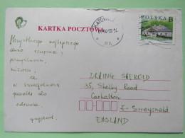 Poland 1998 Postcard Katowice To England - Country Estates Gluchach - 1944-.... Republic